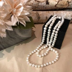 Jewelry - Freshwater Pearl Long Necklace, White
